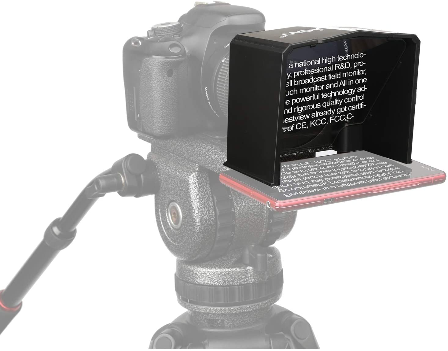 Bestview T1 Smartphone Teleprompter with Remote Control Mobile, IPad & Tablet Telepromter Bestview