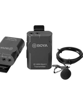 BOYA bY-WM4 Mark II Portable 2.4G Wireless Microphone System TX-RX Audio audio