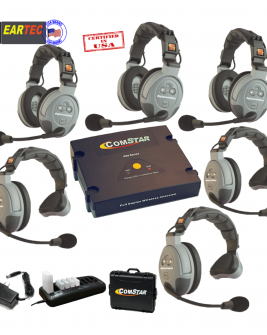 Eartec Comstar XT633  6/Pers Full Duplex System All In One Headset Intercom Systems Eartec