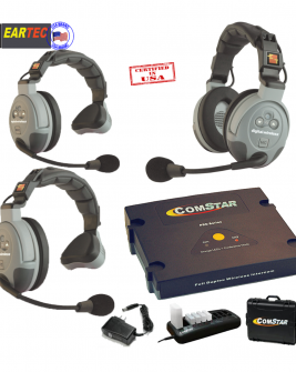Eartec Comstar Xt321-Eu 3/Pers Full Duplex System All In One Headset Intercom Systems Eartec