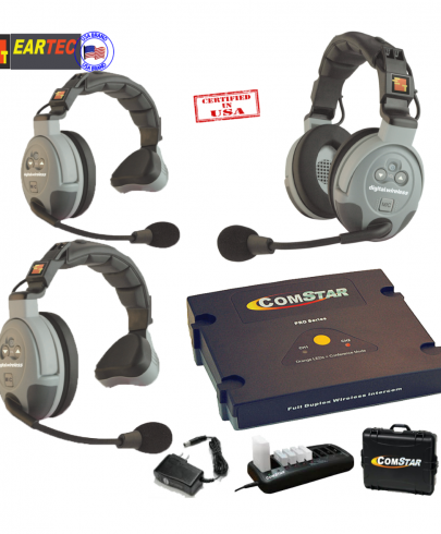 Eartec Comstar Xt321-Eu 3/Pers Full Duplex System All In One Headset