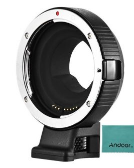 Commlite CM-AEF-MFT Electronic Autofocus Lens Mount Adapter for Canon EF or EF-S-Mount Lens to Micro Four Thirds-Mount Camera Follow Focus & Lens Adapters Canon