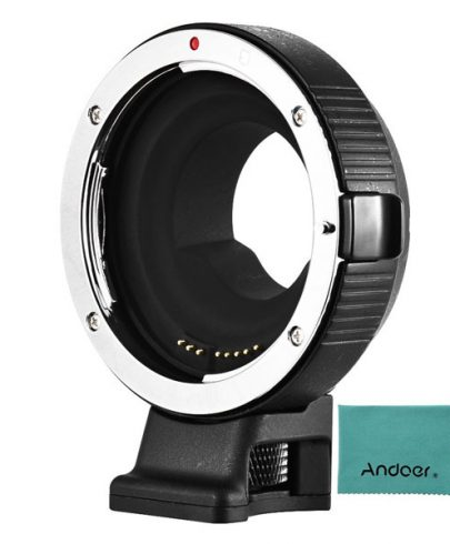 Commlite CM-AEF-MFT Electronic Autofocus Lens Mount Adapter for Canon EF or EF-S-Mount Lens to Micro Four Thirds-Mount Camera Lens Accessories Canon