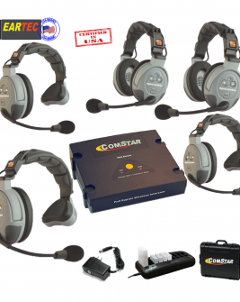 Eartec Comstar XT532  5/Pers Full Duplex System All In One Headset Intercom Systems Eartec