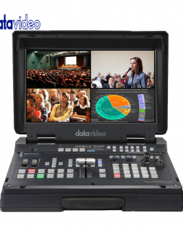 Datavideo HS-1600T 4-Channel HD/SD Hdbaset Portable Video Streaming Studio Pro Video Data Video