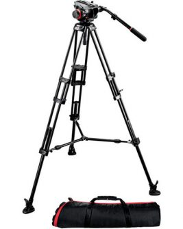 Manfrotto 504HD Head with 546GB 2-Stage Aluminum Tripod System Photography Manfrotto