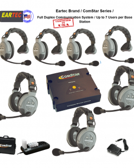 Eartec Comstar Xt-743-Eu 7/Pers Full Duplex System All In One Headset Intercom Systems Eartec