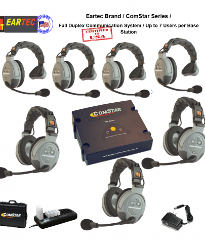Eartec Comstar Xt-743-Eu 7/Pers Full Duplex System All In One Headset