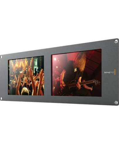 Blackmagic Design SmartView Duo2 Rackmountable Dual 8″ LCD Monitors Monitors Black Magic