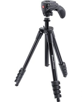 Manfrotto Compact Action Aluminum Tripod (Black) Photography Manfrotto
