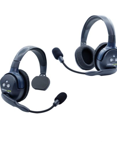 Eartec Ultralite HD 2 Person  System W/ 1 Single 1 Double Headset, Batteries, Charger & Case