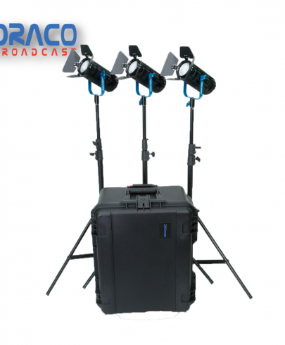 Dracast Boltray Plus 600 Daylight 3 Light Kit with Dual NP-F Battery Plates and Injection Molded Travel Case Continuous Lighting Draco Broadcast