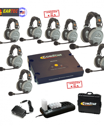 Eartec Comstar XT88D 8/Pers Full Duplex System All In One Headset