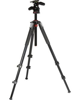 Manfrotto MT055XPRO3-3W Aluminum Tripod with 3-Way Pan/Tilt Head Photography Manfrotto