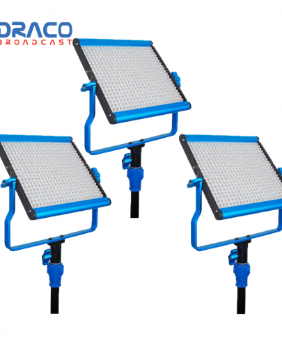 Dracast S-Series LED500 Bi-Color 3 Light Kit with V-Mount Battery Plates Continuous Lighting Draco Broadcast