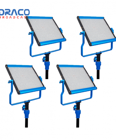 Dracast S-Series LED500 Bi-Color 4 Light Kit with NP-F Battery Plates Continuous Lighting Draco Broadcast
