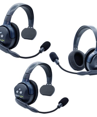 Eartec UL321 Ultralite HD  3 Person System W/ 2 Single 1 Double Headsets, Batteries, Charger & Case