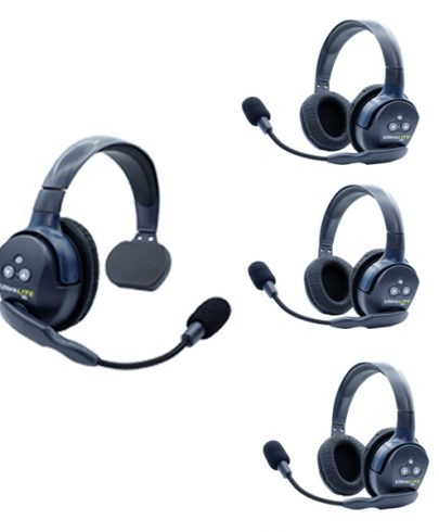 Eartec Ul413 Ultralite 4 Pers. System W/ 1 Single & 3 Double Headsets