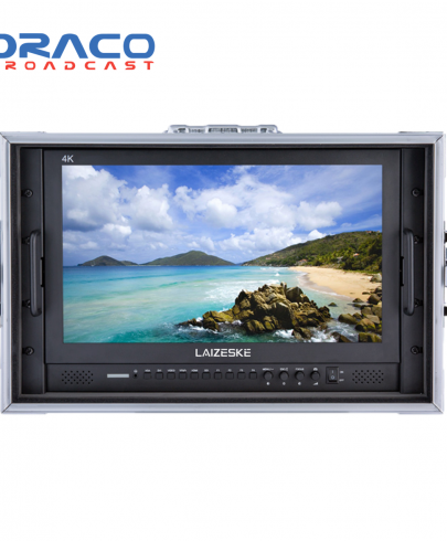 Laizeske 17.3″ Full-HD Carry-On Broadcast Director Monitor with HDMI and 3G-SDI Monitors Draco Broadcast