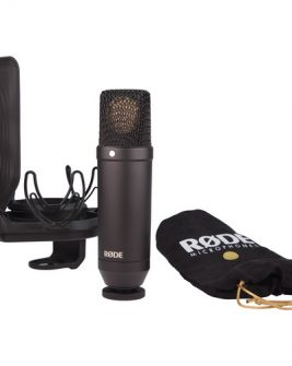 Rode NT-1 KIT 1″ Cardioid Condenser Microphone with SMR Shockmount Audio audio