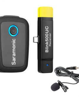 Saramonic Blink 500 B5 Wireless Clip-On Mic System With Lavalier & Dual Usb-C Receiver For Android Devices & More [ Tx + Rxuc ] Audio audio