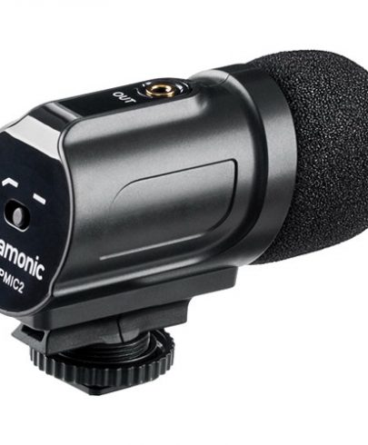 Saramonic SR-PMIC2 Mini Stereo Condenser Microphone with Integrated Shockmount