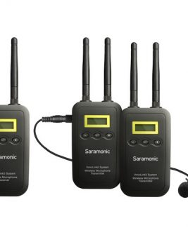 Saramonic VmicLink5 RX+TX+TX Camera-Mount Digital Wireless Microphone System with Two Transmitters and Lavalier Mics Audio audio