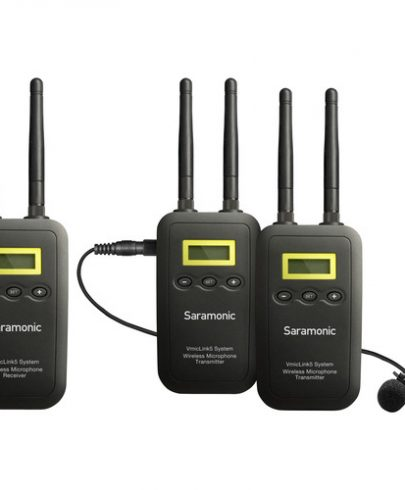 Saramonic VmicLink5 RX+TX+TX Camera-Mount Digital Wireless Microphone System with Two Transmitters and Lavalier Mics Pro Audio audio