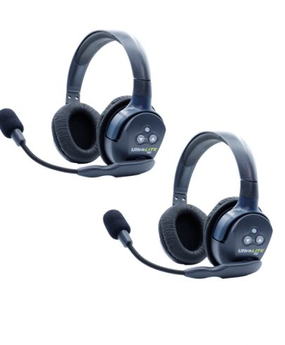 Eartec Ultralite HD 2 Person System W/ 2 Double Headsets, Batteries, Charger & Case