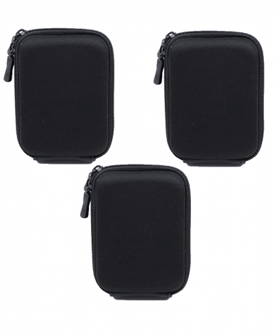 Solibag Carry Case -5001 Hardcase Pure Black L (With Shoulder Strap And Belt Loop) Suitable For Example Cybershot Dsc Hx60 Hx90 – Coolpix S9900 W100 W150 – Lumix Dmc Tz70 Tz80 – Powershot Sx710 Sx720 Pack Of 3Pcs Camcorder & Camera Accessories Camera Bags