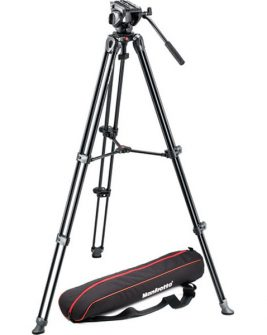 Manfrotto MVH500A Fluid Drag Video Head with MVT502AM Tripod and Carry Bag Photography Manfrotto