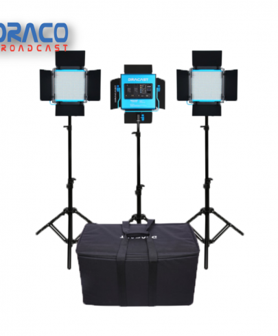 Dracast S-Series Plus LED500 Daylight LED 3 Light Kit with NP-F Battery Plates and Nylon Padded Travel Case Continuous Lighting Draco Broadcast