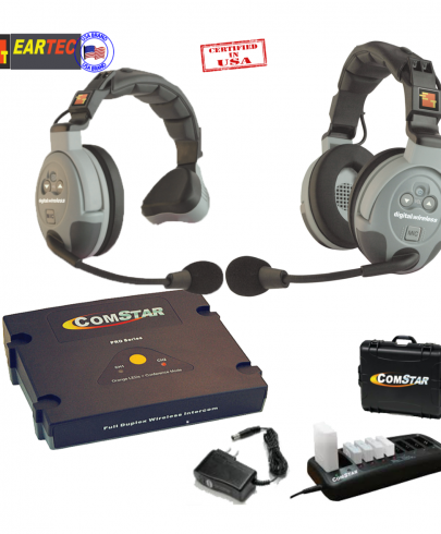 Eartec Comstar Xt211-Eu 2/Pers Full Duplex System All In One Headset