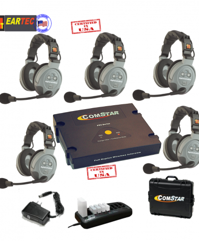 Eartec Comstar XT55D  5/Pers Full Duplex System All In One Headset