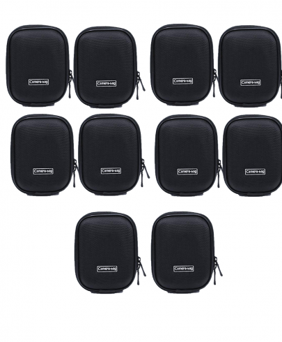 Universal Anti-Shock Hard Shell Camera Case Bag With Blet Loop For Compact Compact Digital Camera Sony Nikon Canon (Black) Camera Bag -237 Pack Of 10Pcs