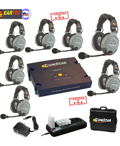 Eartec Comstar XT77D 7/Pers Full Duplex System All In One Headset