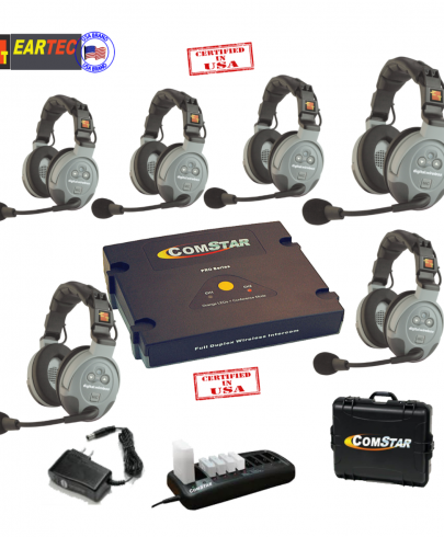 Eartec Comstar XT66D 6/Pers Full Duplex System All In One Headset
