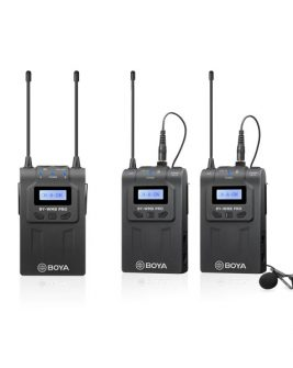 BOYA BY-WM8 Pro-K2 UHF Dual-Channel Wireless Lavalier System (576.4 to 599.9 MHz, 568.6 to 592 MHz) Audio audio