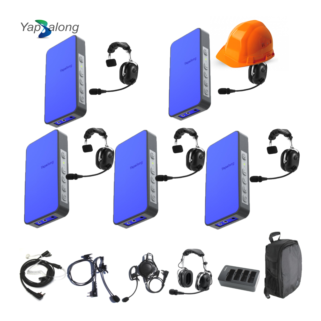 Yapalong 5000 (5-User) Industriale Complete Set Intercom Systems Intercom Systems