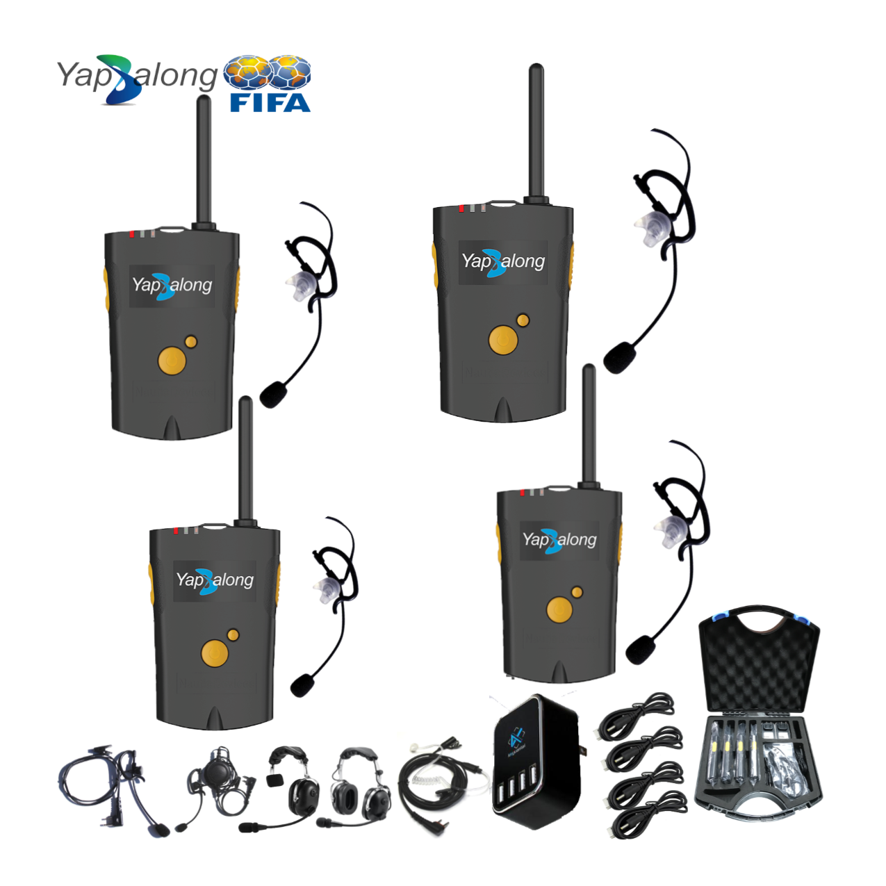 Yapalong 4000 (4-User) Complete Set Intercom Systems Intercom Systems