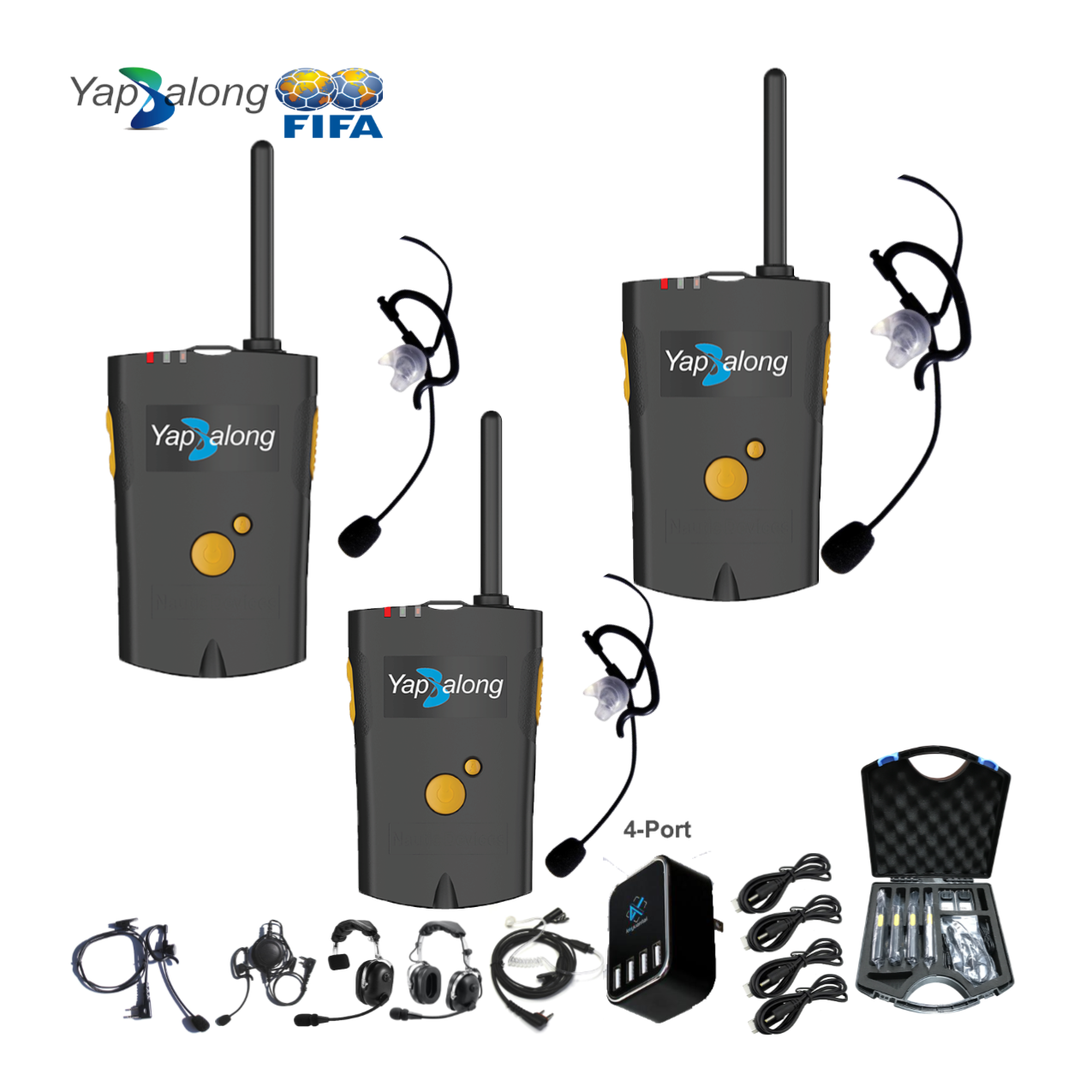 Yapalong 4000 (3-User) Complete Set Communications & IFB Intercom Systems