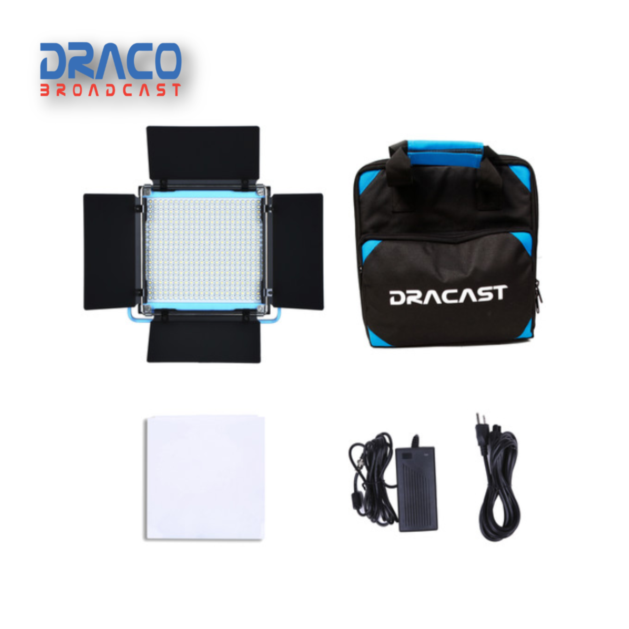 Dracast S-Series Plus LED500 Daylight LED 3 Light Kit with NP-F Battery Plates and Nylon Padded Travel Case Kit Lights Draco Broadcast