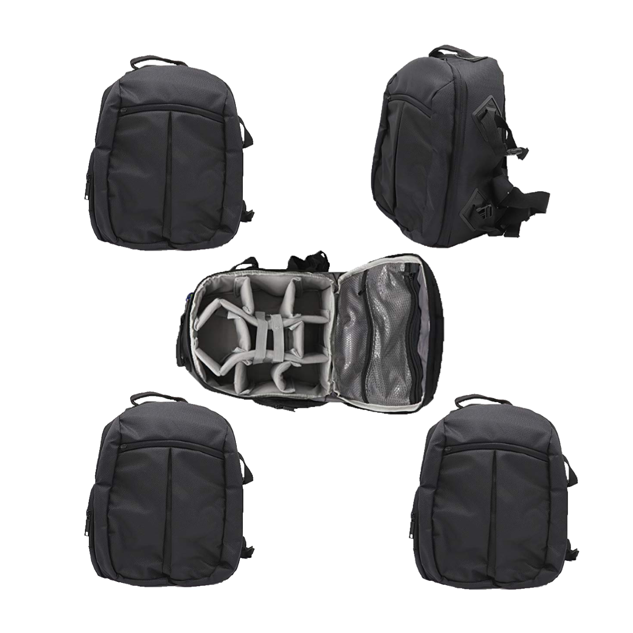 Solibag Slr Camera Travel Backpack Waterproof Carry Bag For Canon, Nikon, Sony, Pentax Black Shoulder Case -7001 Pack Of 5Pcs Camera Bags Camera Bags
