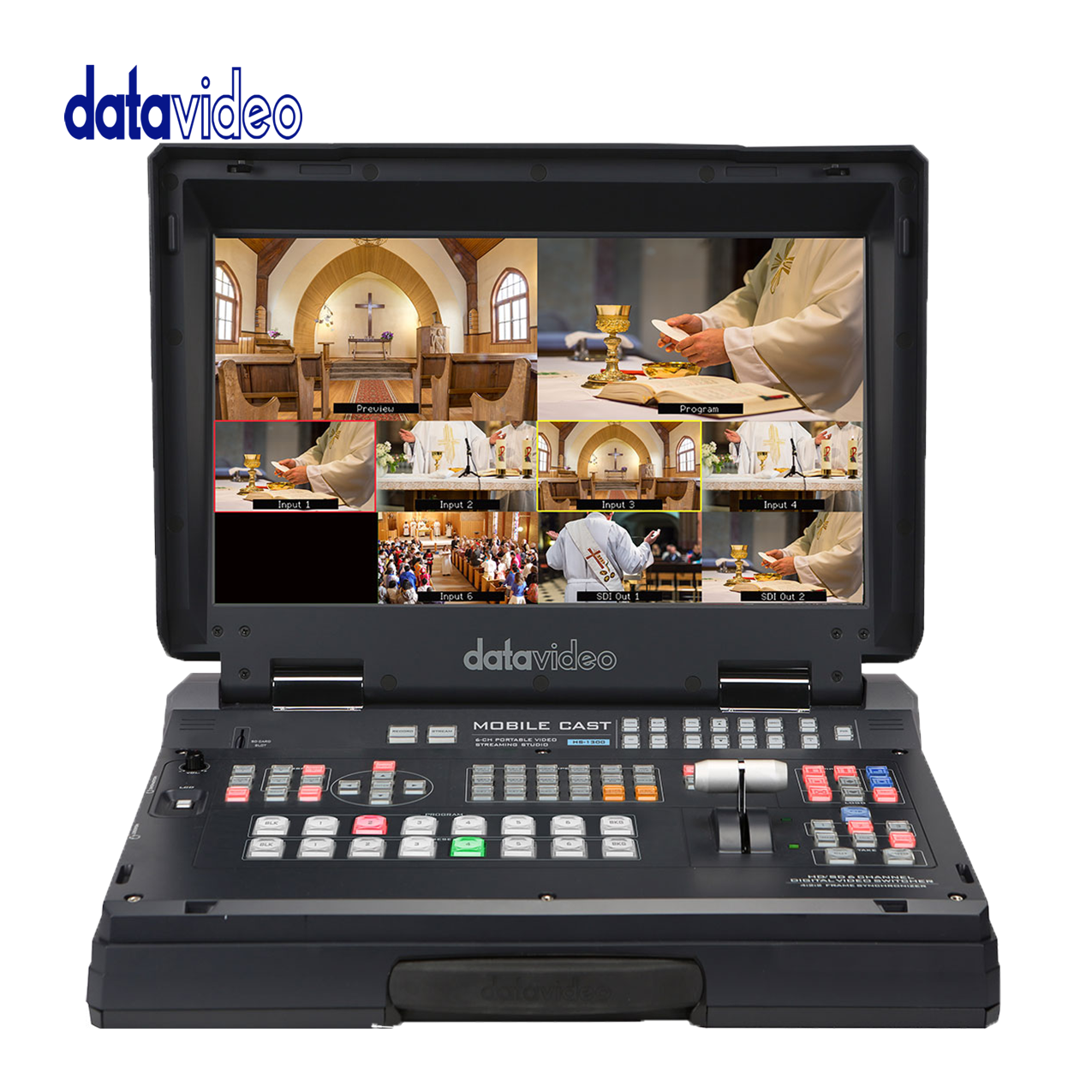 Data Video Hs-1300  6-Channel HD Portable Video Streaming Studio Pro Video Data Video