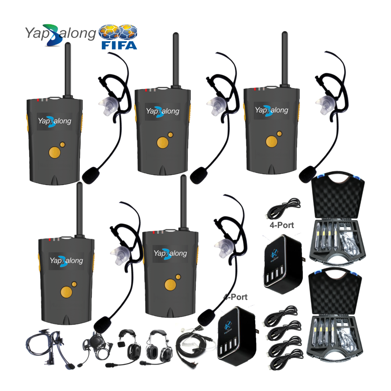 Yapalong 4000 (5-User) Complete Set Intercom Systems Intercom Systems