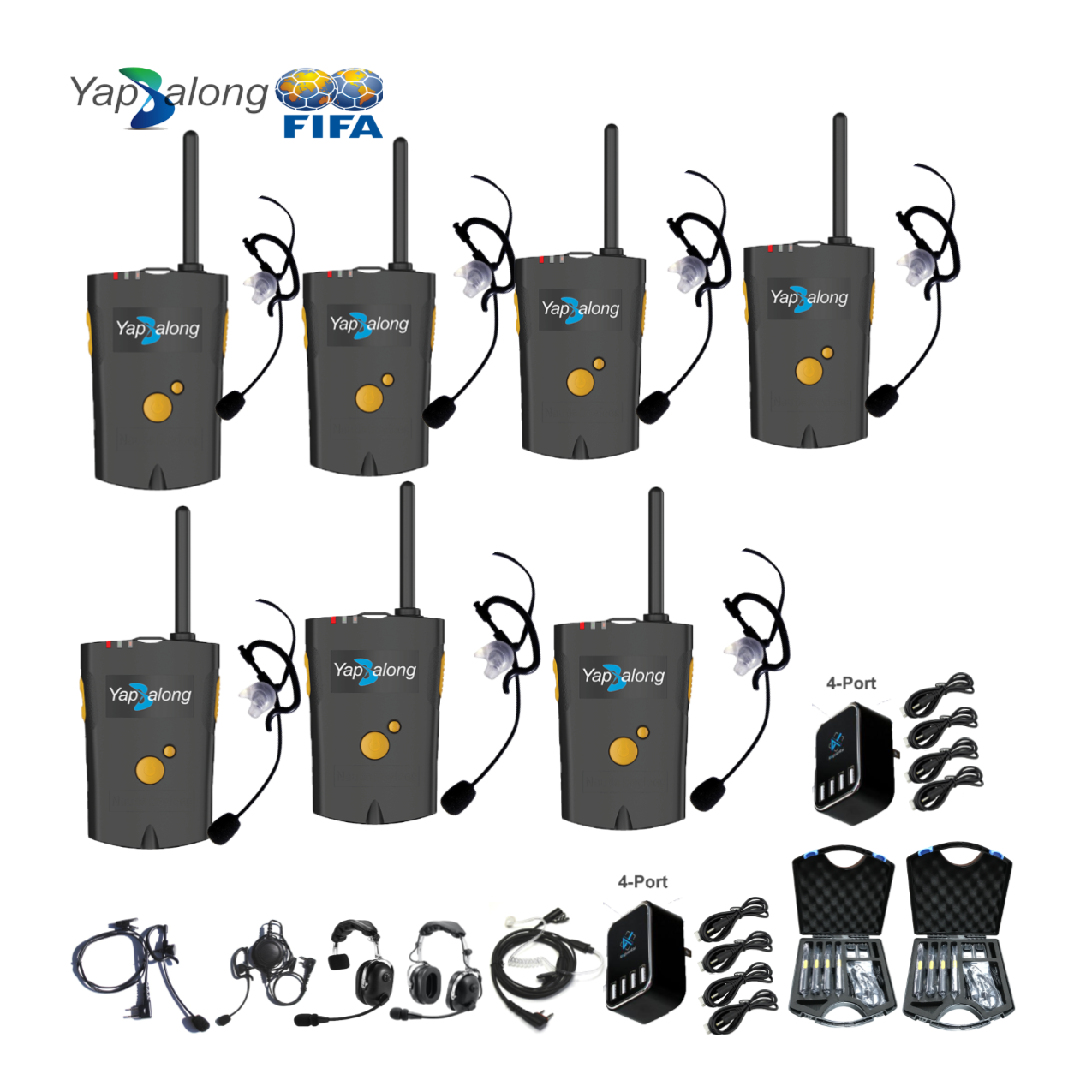 Yapalong 4000 (7-User) Complete Set Intercom Systems Intercom Systems