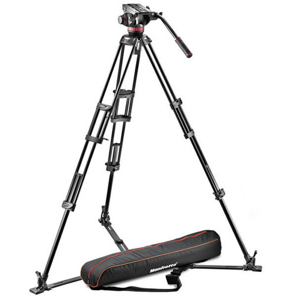Manfrotto 502A Video Head, 546GB Tripod, and Carry Bag Bundle Photography Manfrotto