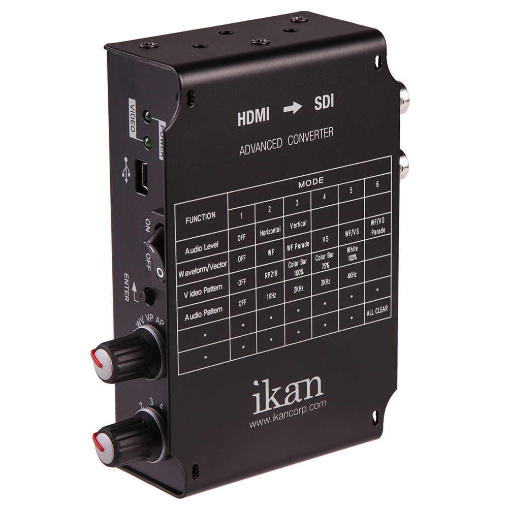 IKAN ADVANCED HDMI TO SDI CONVERTER Audio audio