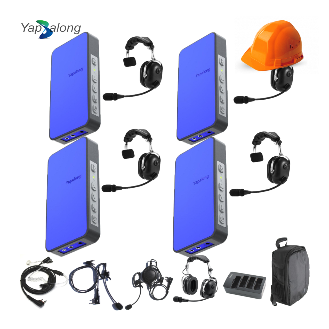 Yapalong 5000 (4-User) Industriale Complete Set Communications & IFB Intercom Systems
