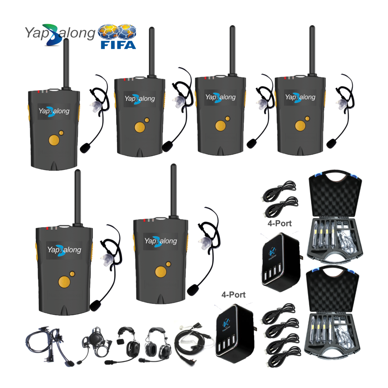 Yapalong 4000 (6-User) Complete Set Communications & IFB Intercom Systems